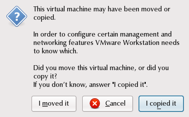 Virtual Machine moved or copied